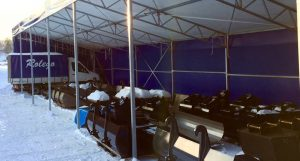 Rolegos skopor under tält